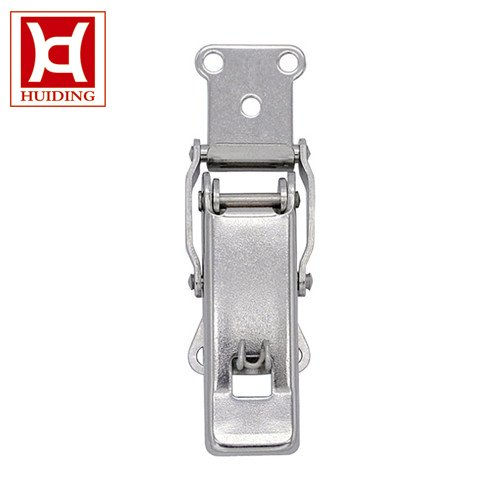 Stainless Steel Spring Loaded Draw Latch Heavy Spring Toggle Latch With Safety Catch