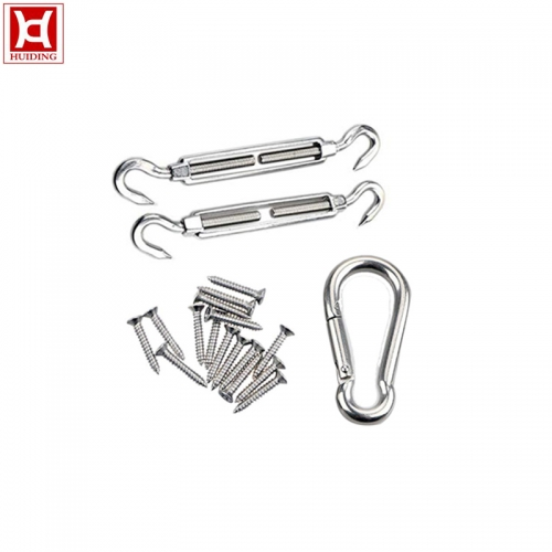 Heavy Duty Marine Grade Stainless Square Sun Shade Sail Hardware Kits
